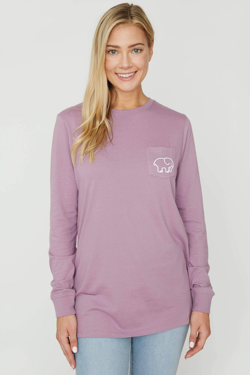 Very Grape Santa Ana Long Sleeve Ella Tee - Ivory Ella - Women's Long Sleeve Shirts