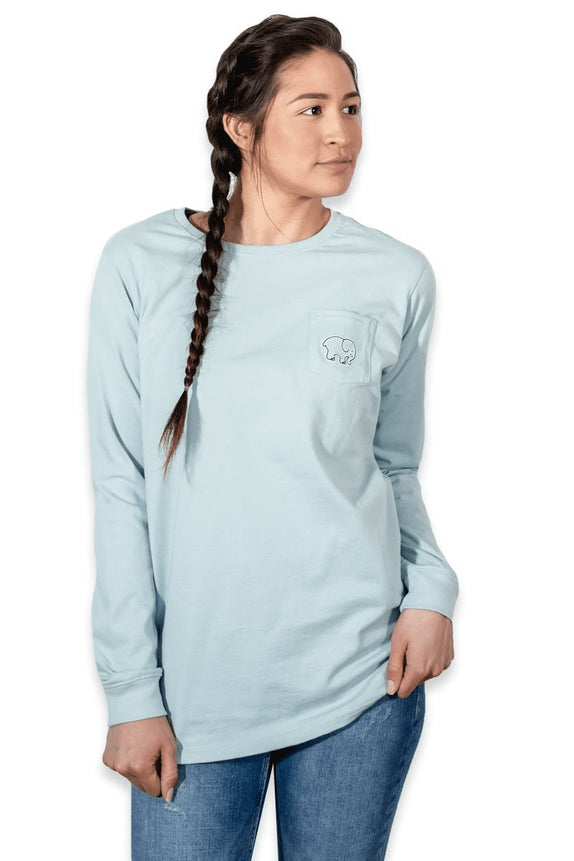 Ella Fit Baby Blue Basketball Tee