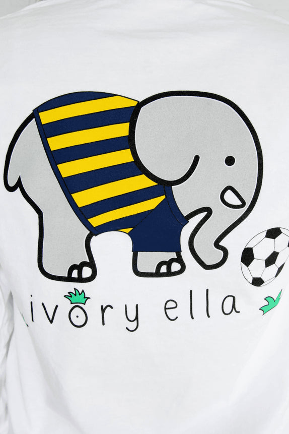 Ella Fit White Soccer Tee