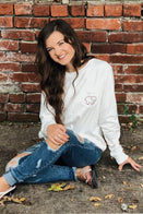 Ivory Ella Women's Long Sleeve Shirts XXS Brooke Hyland Dancing Sunflower Tee