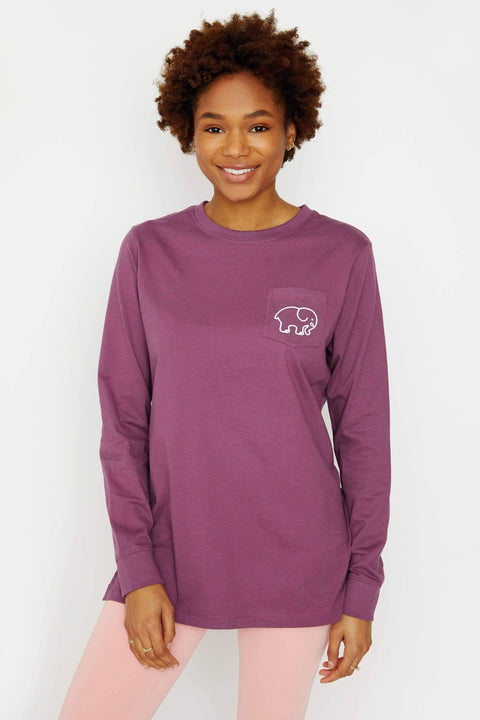 Ivory Ella Women's Long Sleeve Shirts XXS Ella Fit Berry Dance Long Sleeve Tee