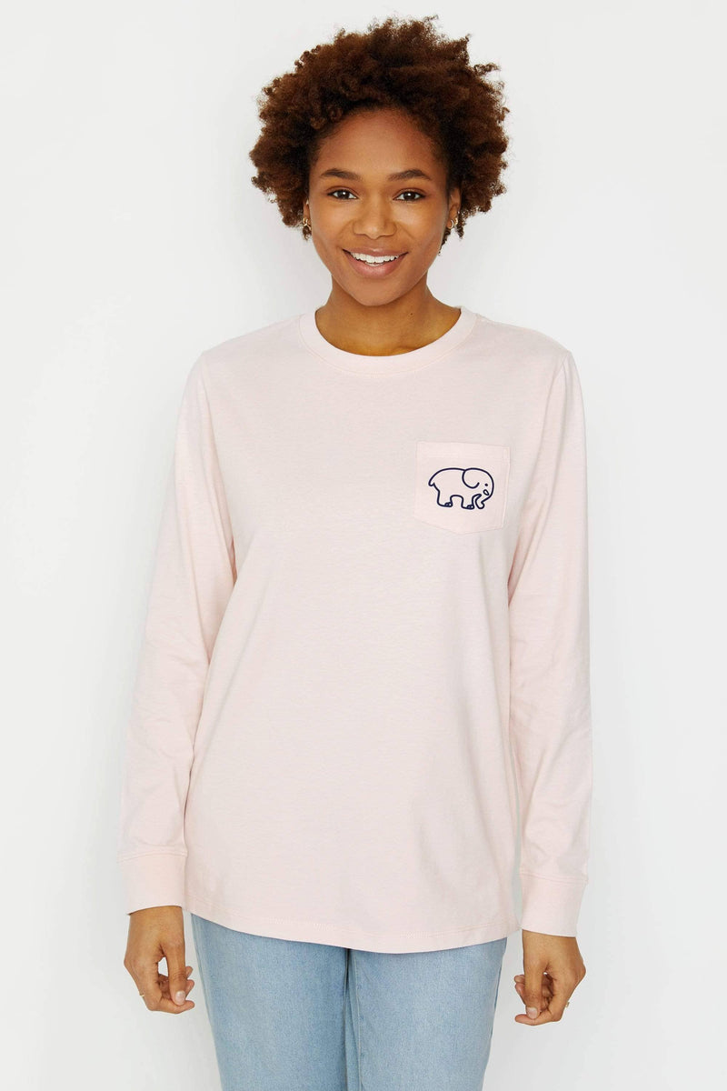 Ivory Ella Women's Long Sleeve Shirts XXS Ella Fit Crystal Pink Band Long Sleeve Tee