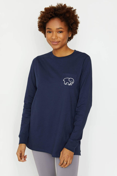 Ivory Ella Women's Long Sleeve Shirts XXS Ella Fit Dark Navy Soccer Long Sleeve Tee