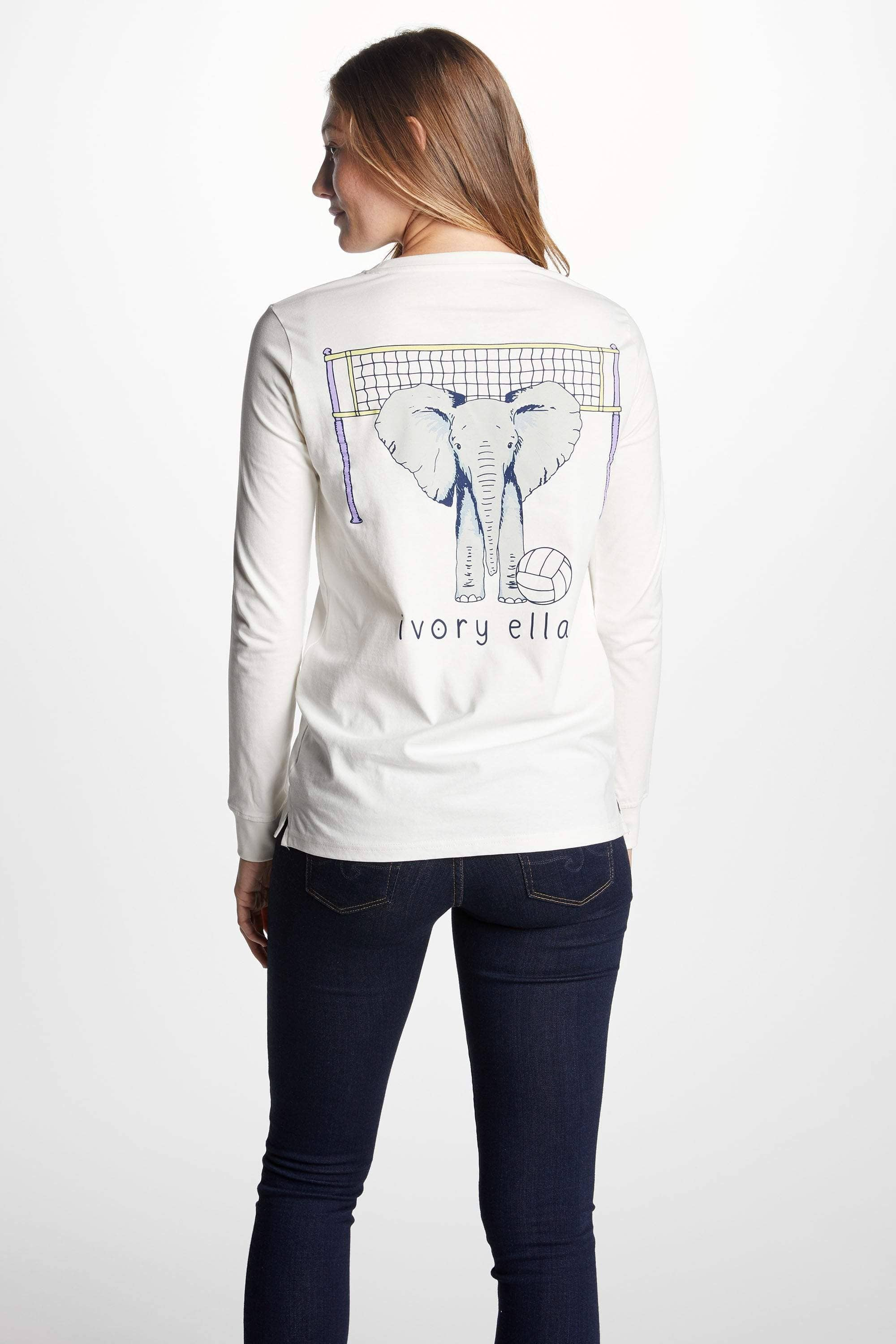 Ivory Ella Women's Long Sleeve Shirts XXS Ella Fit New Volleyball Tee
