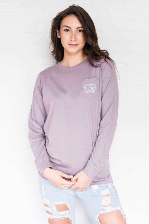 Ivory Ella Women's Long Sleeve Shirts XXS Ella Fit Nightshade Mountains Tee