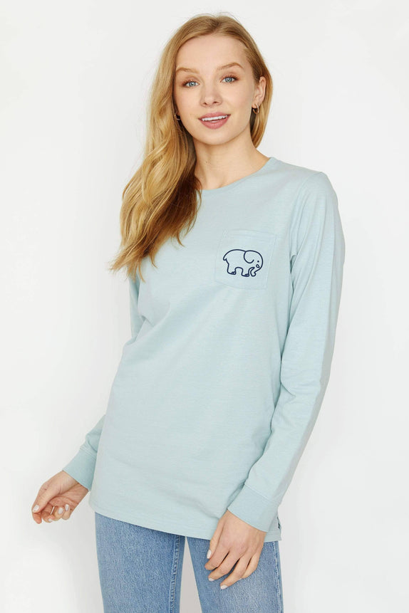 Ella Fit Pistachio Track Long Sleeve Tee