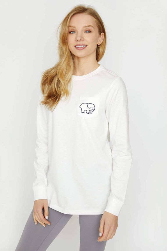 Ella Fit Soft White Swimming Long Sleeve Tee