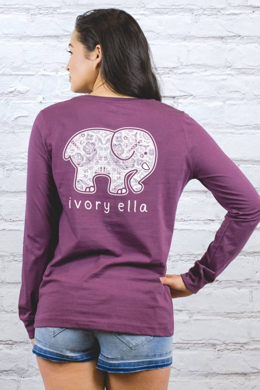 dbe604ca8cc9 Ivory Ella Women's Long Sleeve Shirts XXS Perfect Fit Royal Purple Rosemale  Tee