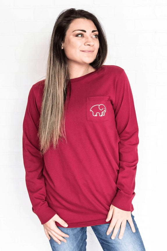 Ella Fit Varsity Red Volleyball Tee