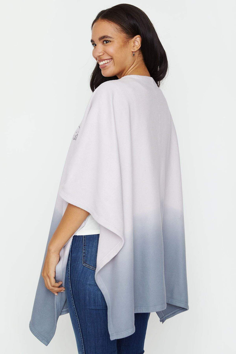 Ivory Ella Women's Outerwear OS Grey Ombre Poncho