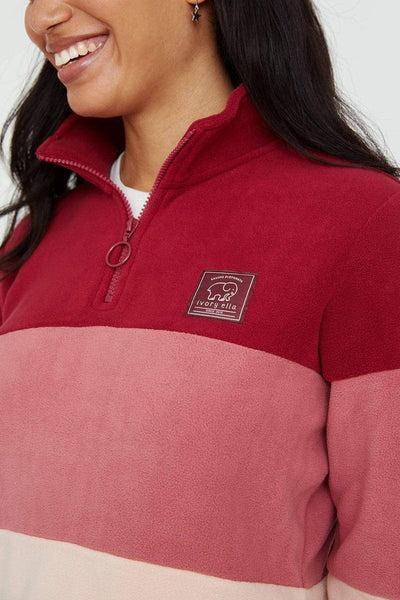 Ivory Ella Women's Outerwear Rumba Red Polar Fleece Combo