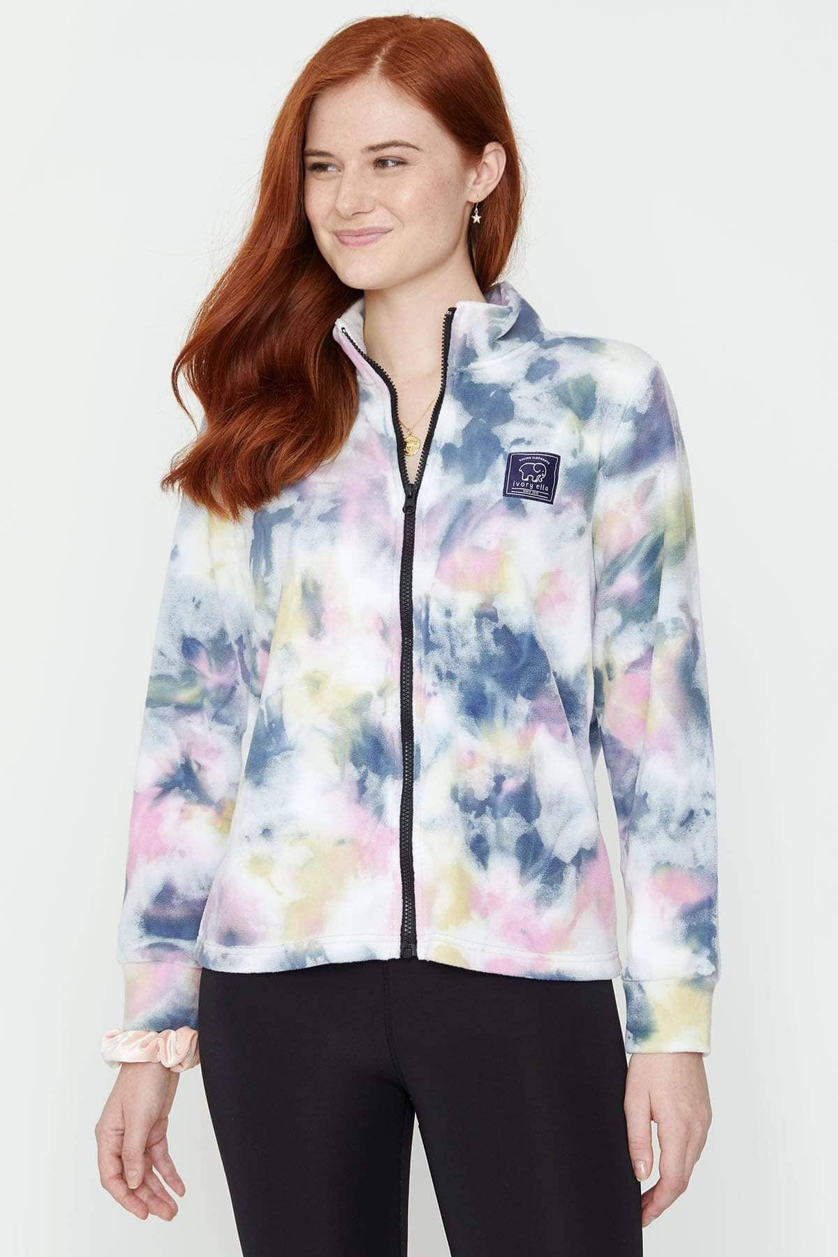 Ivory Ella Women's Outerwear Tie Dye Polar Fleece