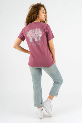 Ivory Ella Women's Short Sleeve Tees Dusty Lavender / XS Ella Fit Dusty Lavender Aztec Hamsa Tee
