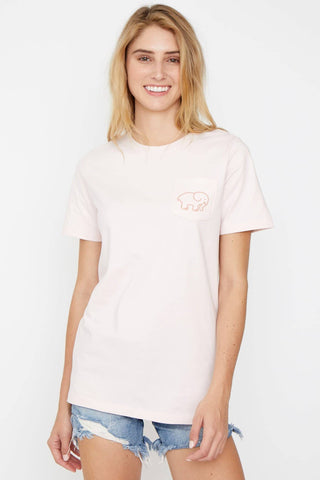 Ivory Ella Women's Short Sleeve Tees Ella Fit Crystal Pink Dots