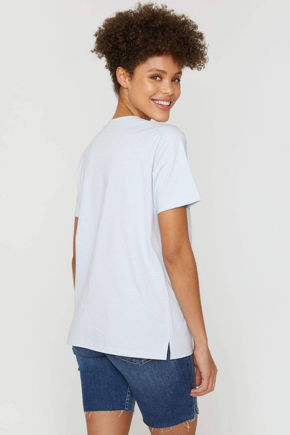 Moonstone Blue Varsity Ella Graphic Tee