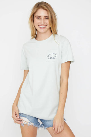 Ivory Ella Women's Short Sleeve Tees Ella Fit Peridot Flow