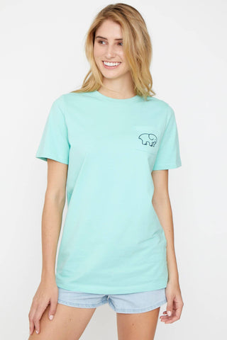 Ivory Ella Women's Short Sleeve Tees Ella Fit Seaglass Daisy
