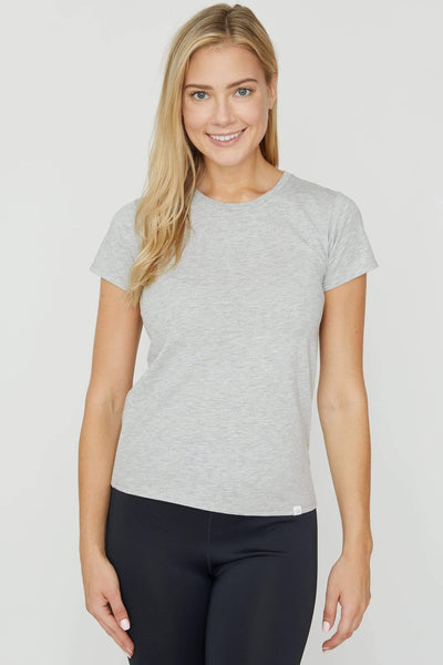 Heather Grey Essential Tee - Ivory Ella - Women's Short Sleeve Tees