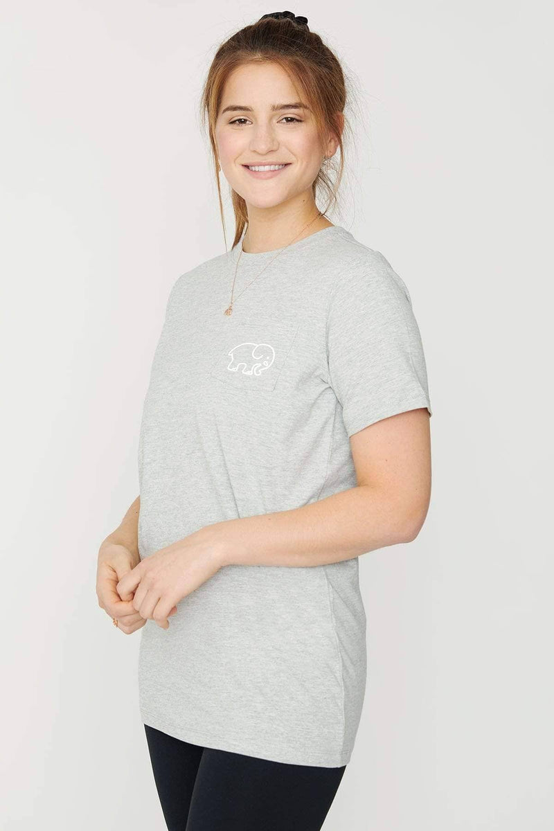 Ivory Ella Women's Short Sleeve Tees Heather Grey Moon & Stars Ella Tee