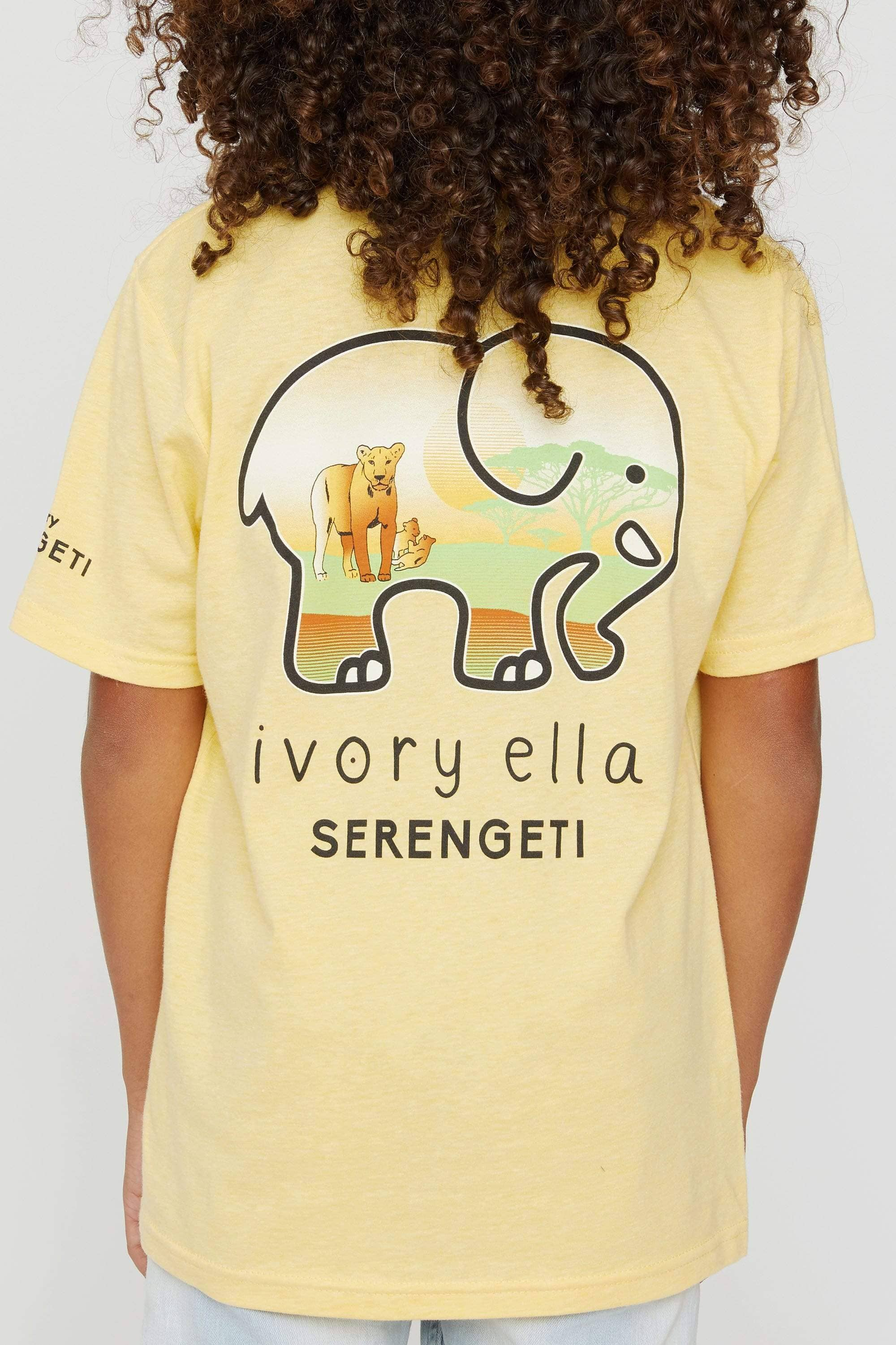Kids Lion Serengeti Tee - Ivory Ella - Kids