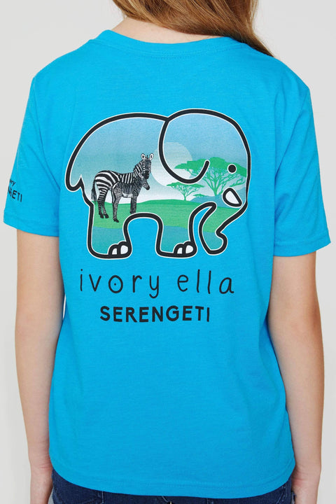 Ivory Ella Women's Short Sleeve Tees Kids Zebra Serengeti Tee