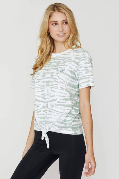 Lily Pad Tie Dye Knot-front Tee