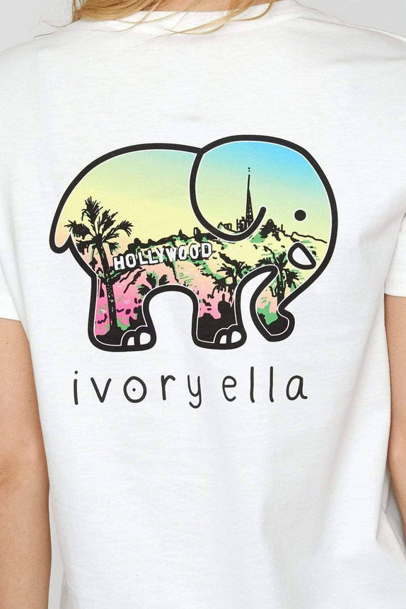 Organic Ella Fit Soft White Hollywood Tee