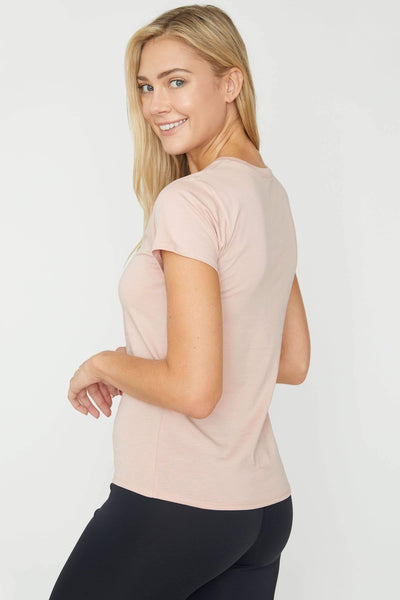 Ivory Ella Women's Short Sleeve Tees Sepia Rose Essential Tshirt