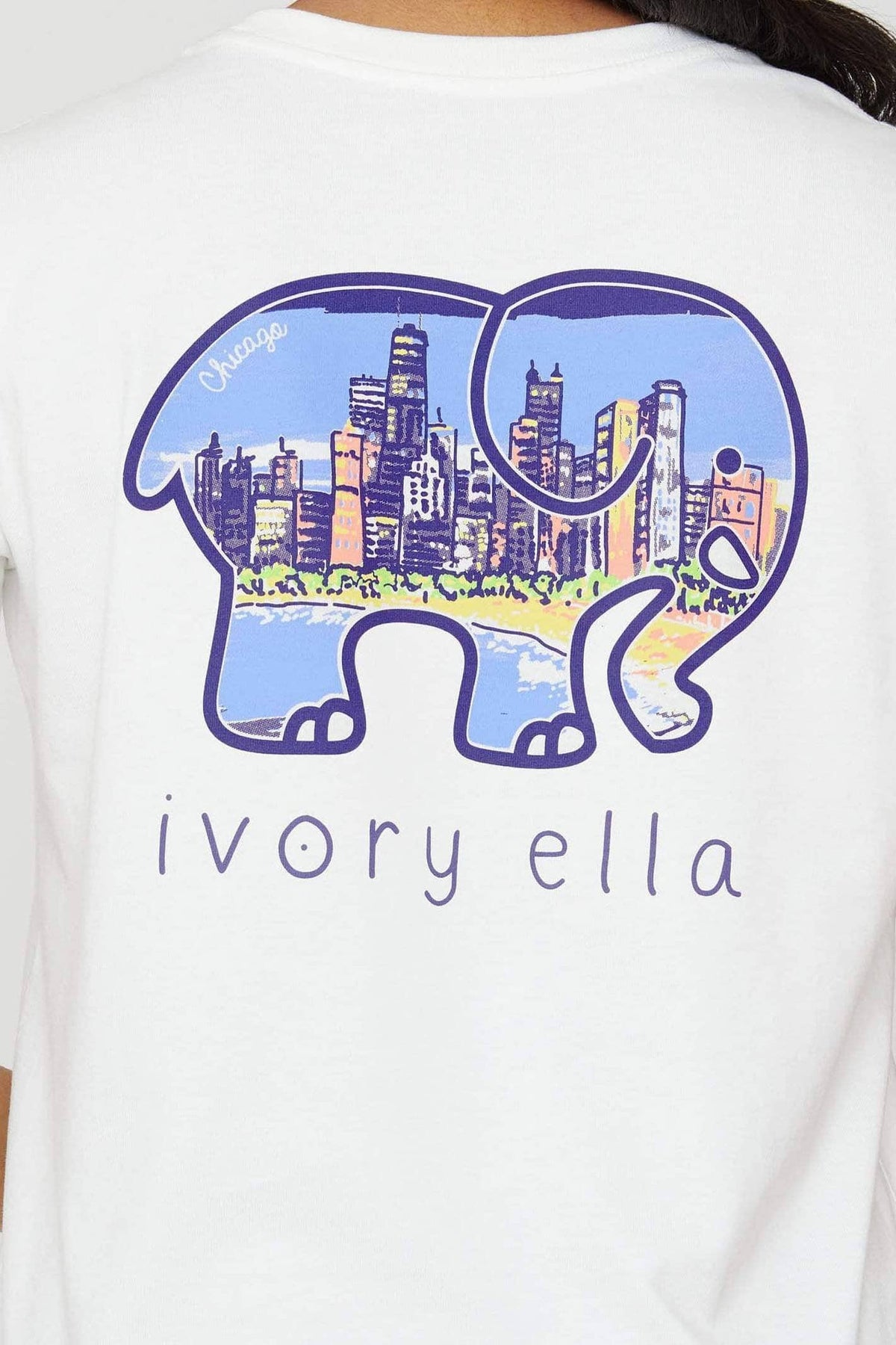 Ivory Ella Women's Short Sleeve Tees Soft White Chicago City Ella Tee
