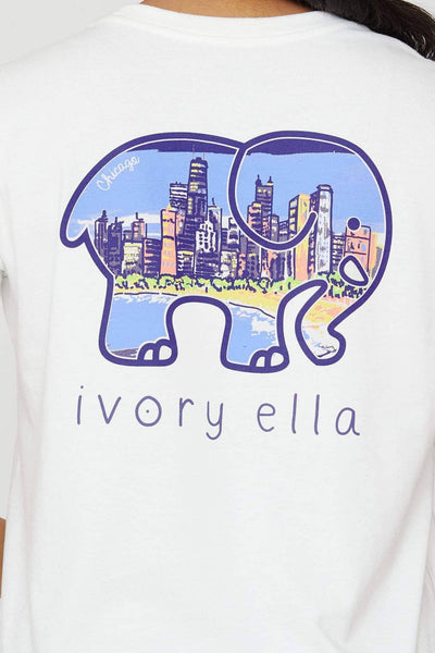 Soft White Chicago City Ella Tee