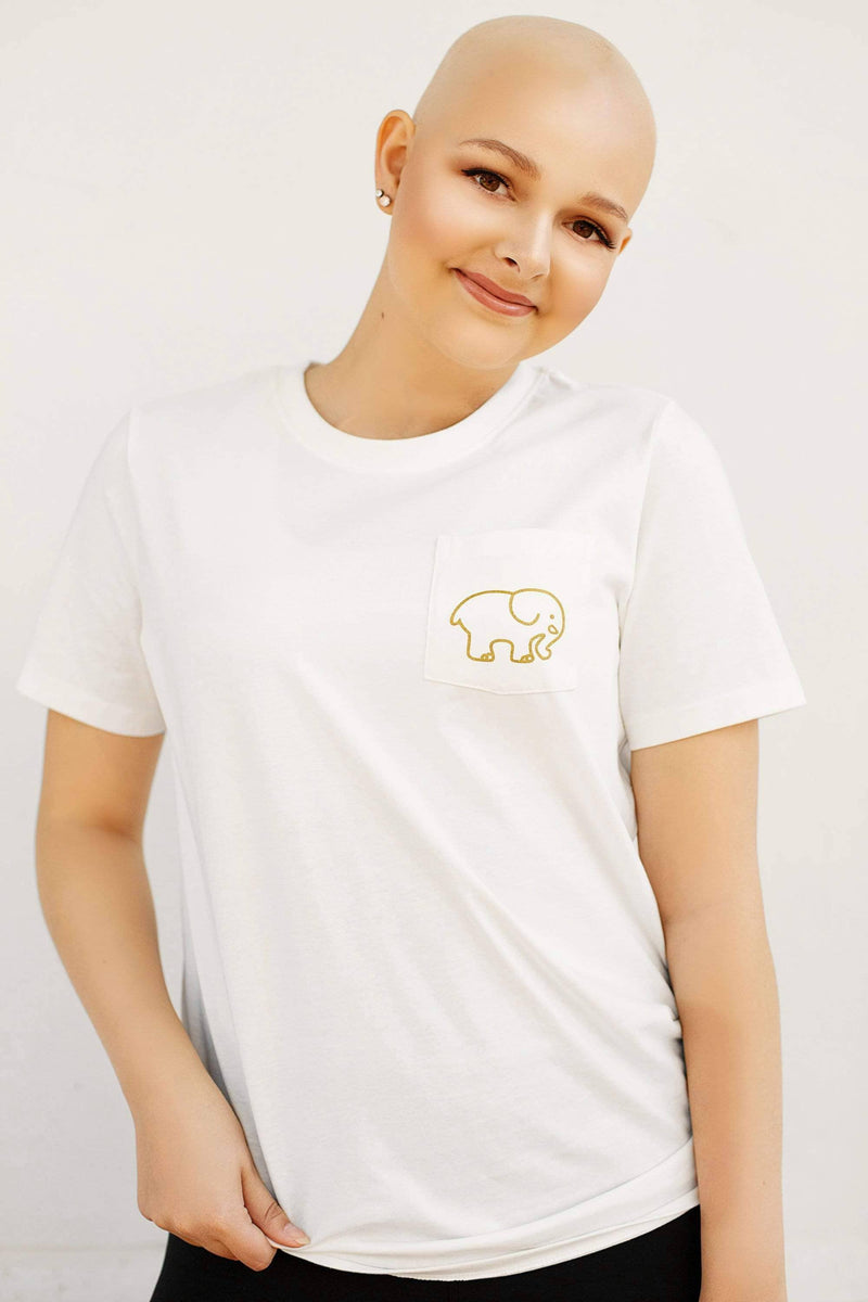 Ivory Ella Women's Short Sleeve Tees Soft White Childhood Cancer Ella Tee