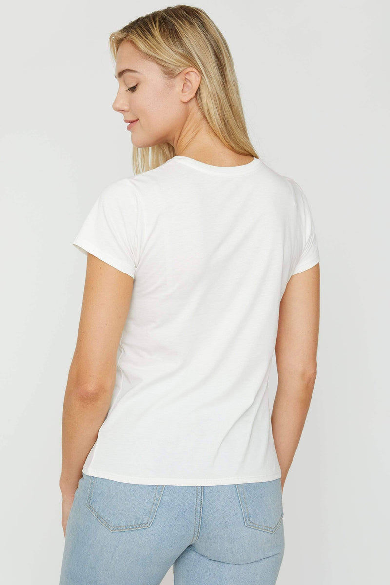 Soft White Essential Tee - Ivory Ella - Women's Short Sleeve Tees