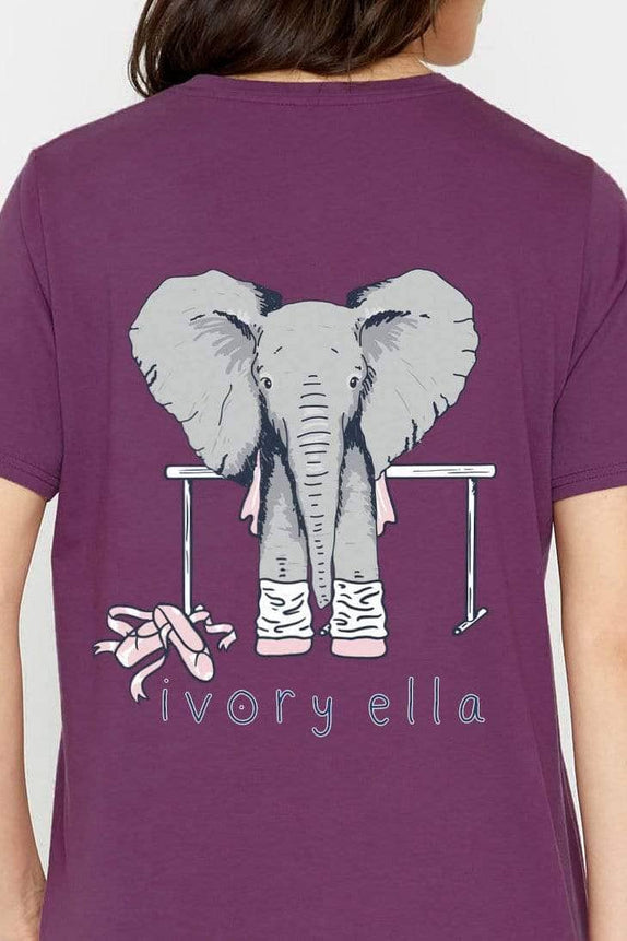 Ella Fit Royal Purple Dance Tee