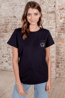 Ivory Ella Women's Short Sleeve Tees XXS Ella Fit Black Paris Tee