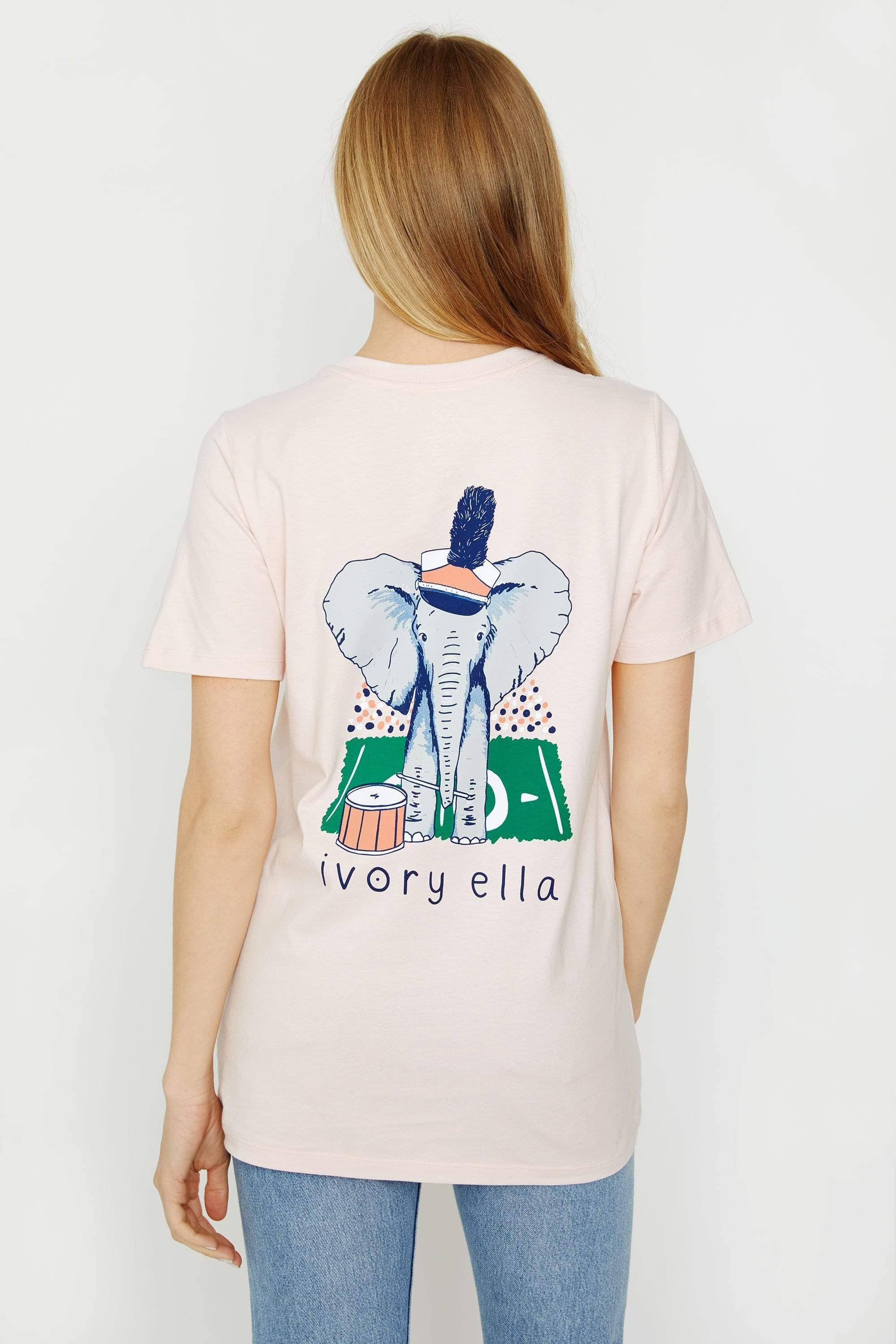 Ivory Ella Women's Short Sleeve Tees XXS Ella Fit Crystal Pink Band Tee