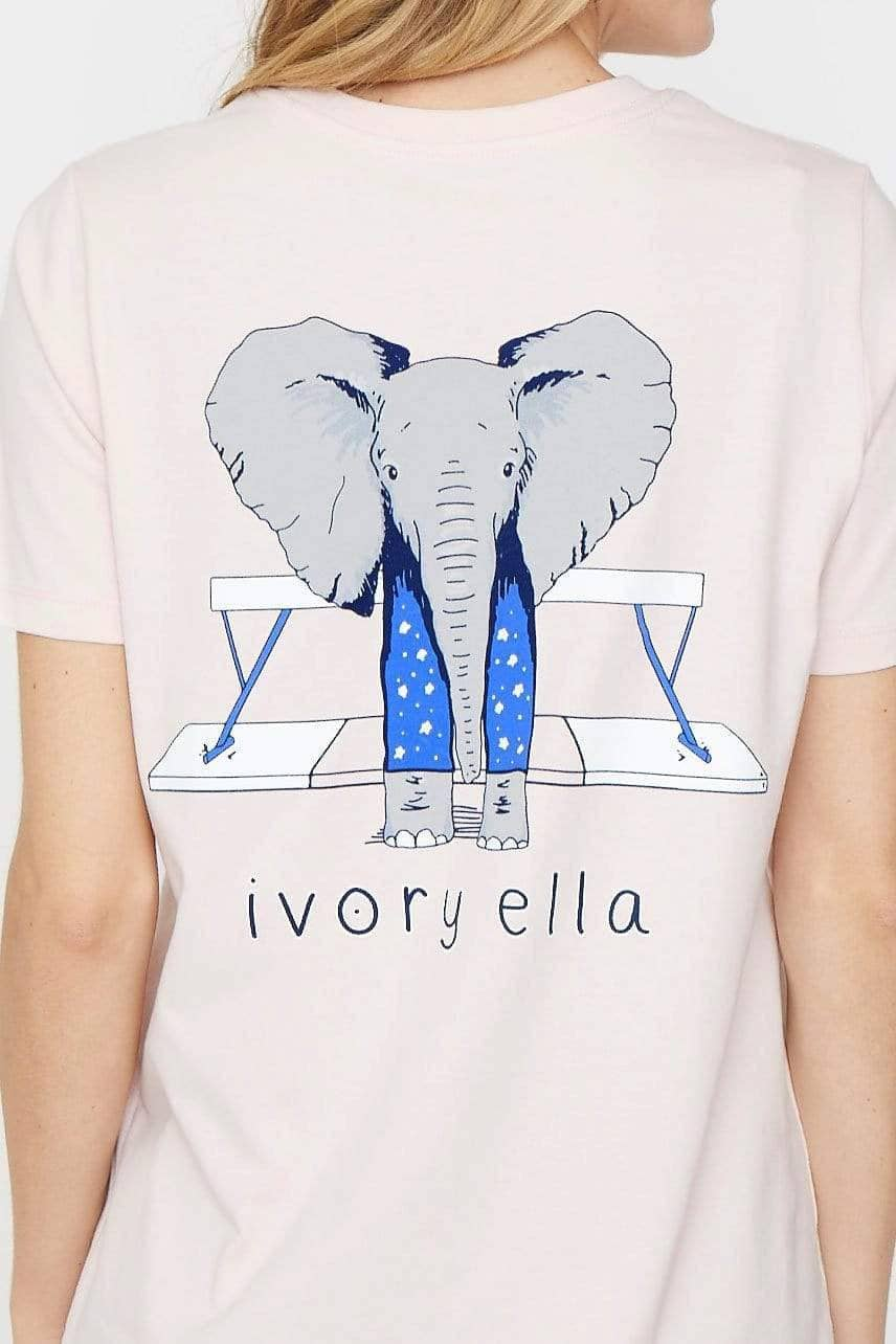 Ivory Ella Women's Short Sleeve Tees XXS Ella Fit Crystal Pink Gymnastics Tee
