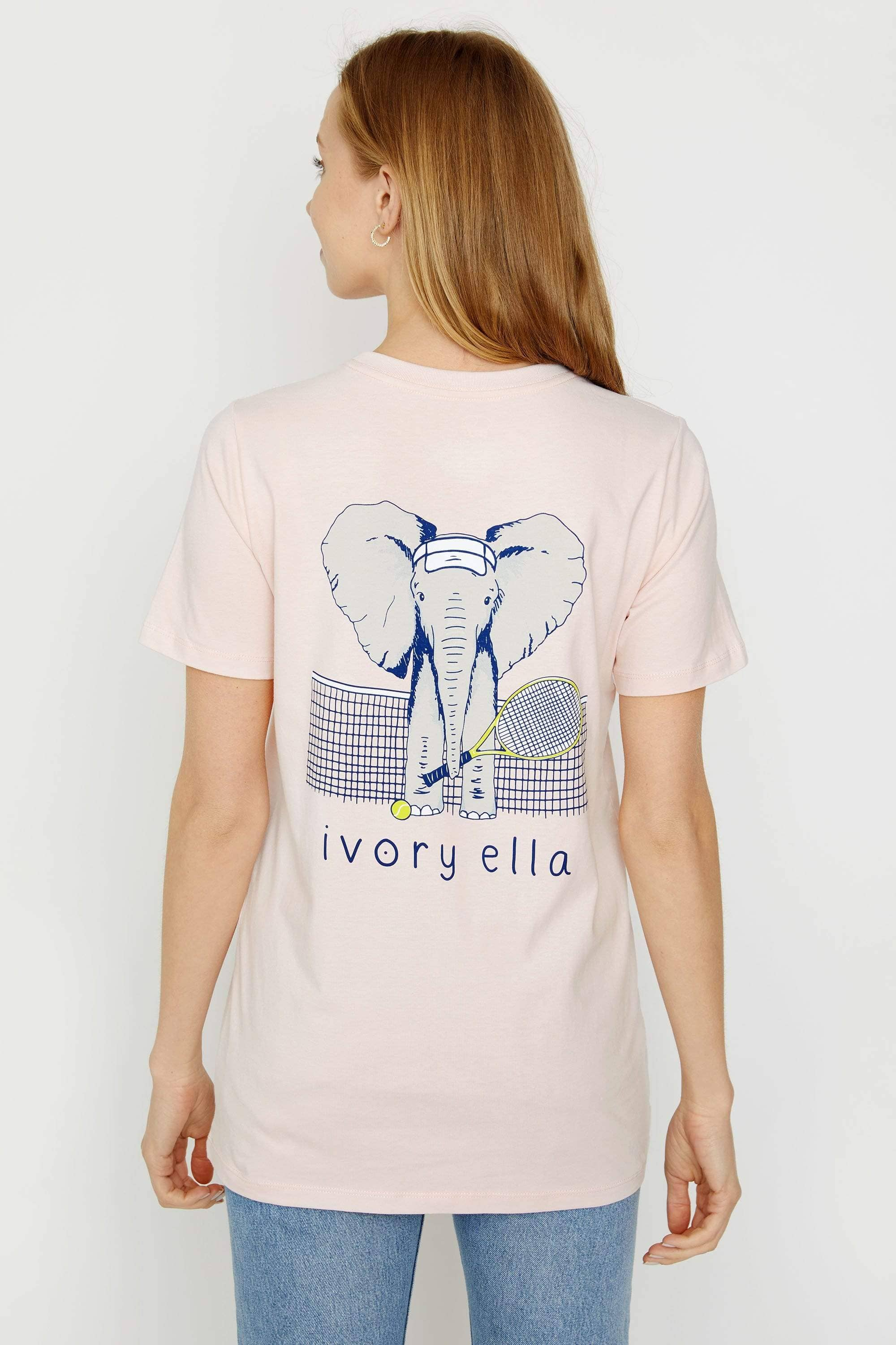 Ivory Ella Women's Short Sleeve Tees XXS Ella Fit Crystal Pink Tennis Tee