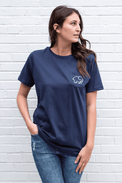 Ivory Ella Women's Short Sleeve Tees XXS Ella Fit Dark Navy Zen