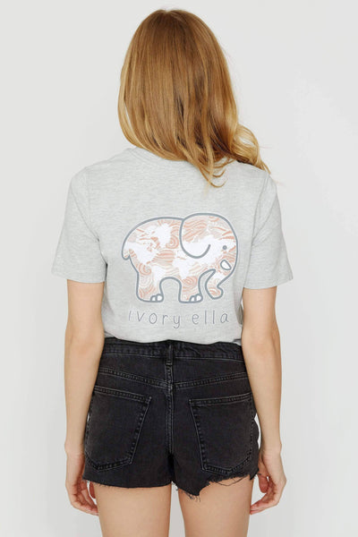 Ella Fit Heather Grey Journey Tee