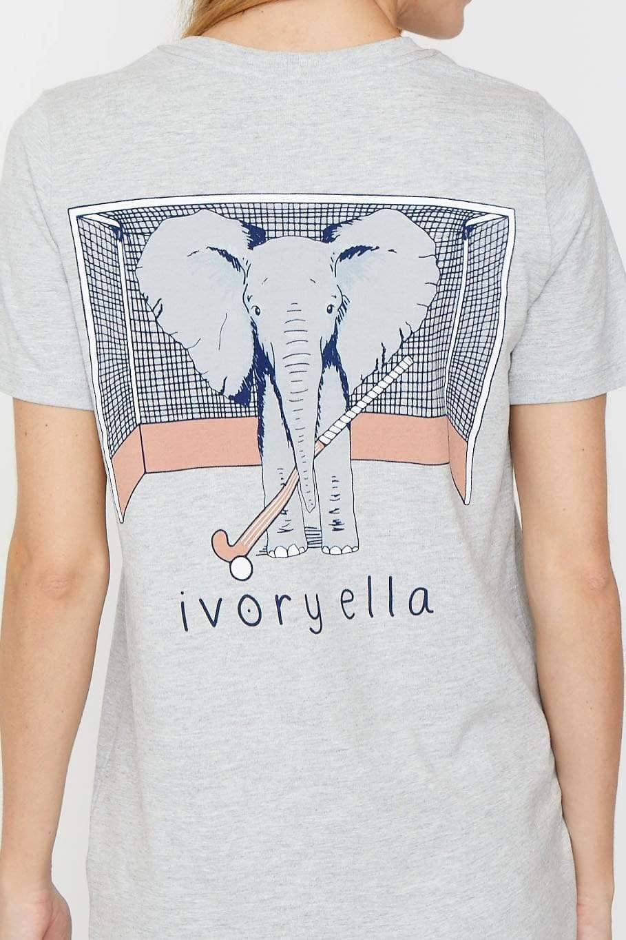 Ivory Ella Women's Short Sleeve Tees XXS Ella Fit Light Heather Grey Field Hockey Tee