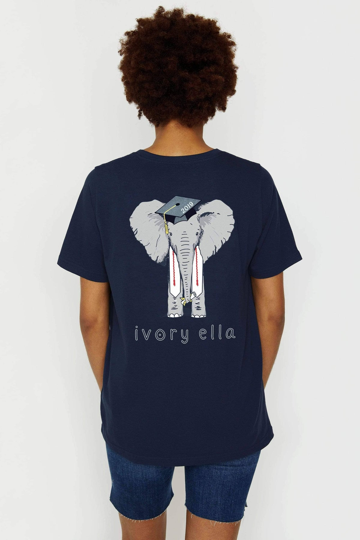 Ivory Ella Women's Short Sleeve Tees XXS Ella Fit Navy Graduation Short Sleeve Tee