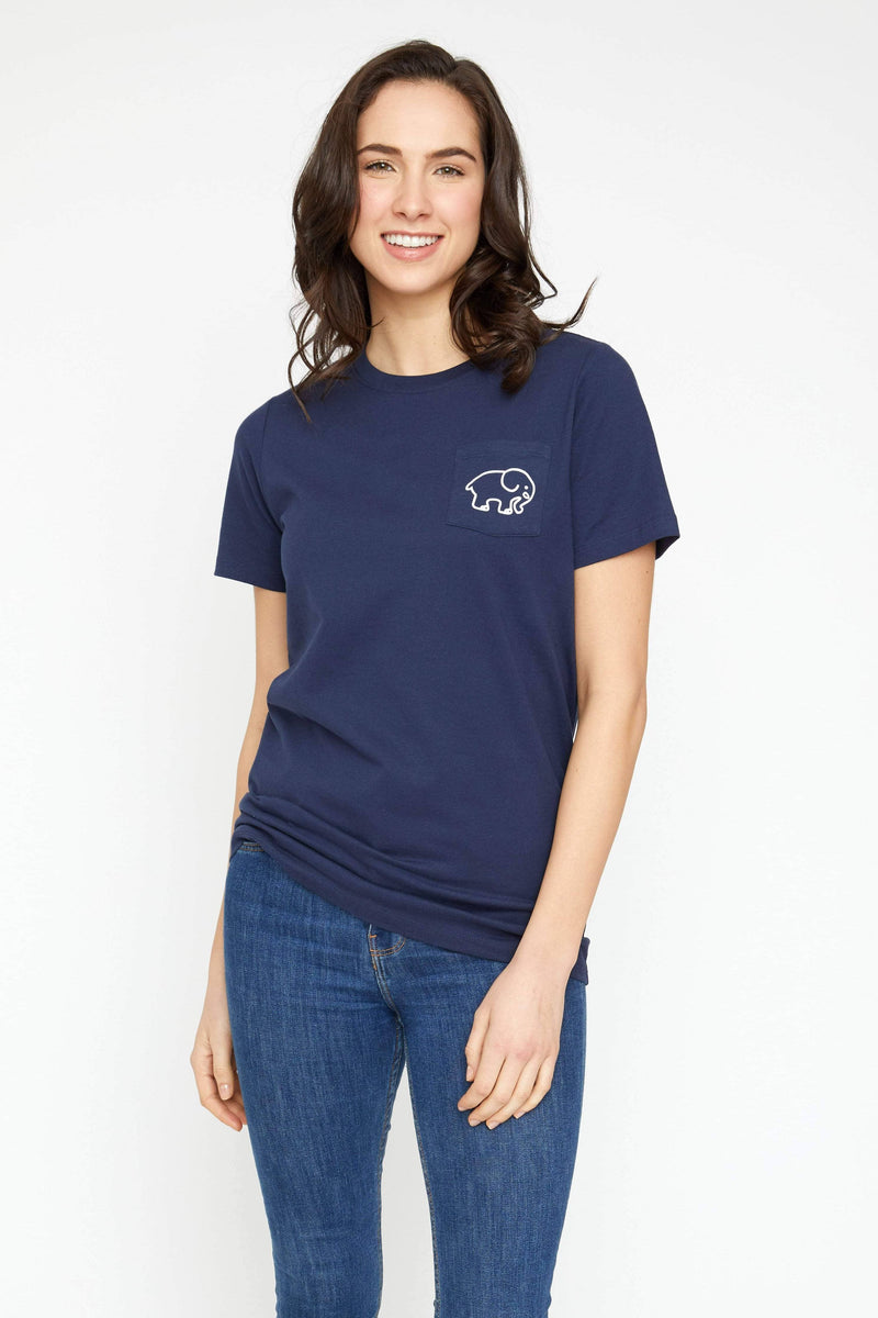 Ella Fit Navy Track Tee - Ivory Ella - Women's Short Sleeve Tees