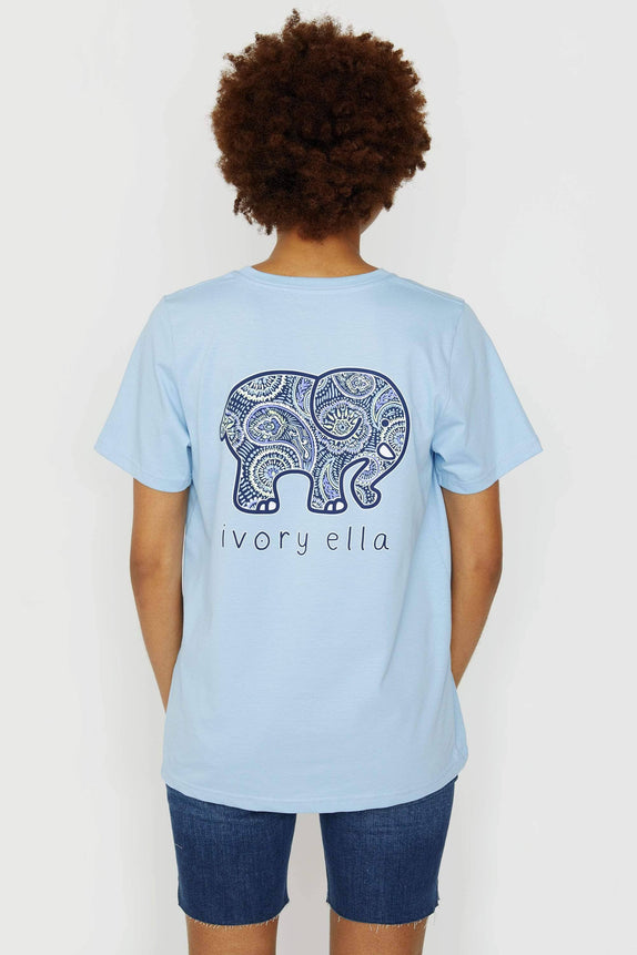 Ella Fit Organic Powder Blue Rainforest Paisley