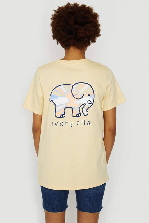 Ivory Ella Women's Short Sleeve Tees XXS Ella Fit Organic Sunshine Sunset Glow