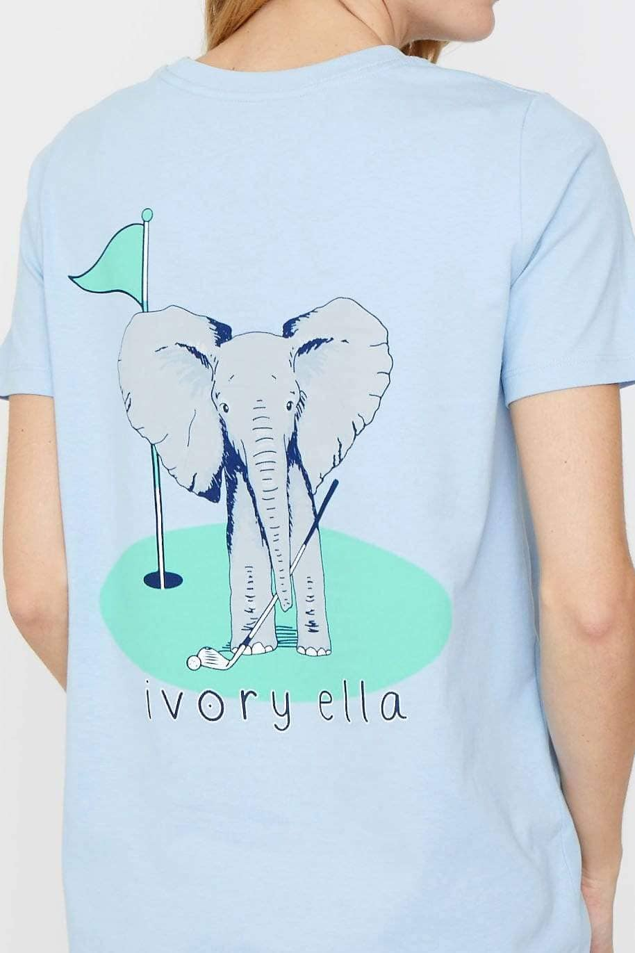 Ivory Ella Women's Short Sleeve Tees XXS Ella Fit Powder Blue Golf Tee