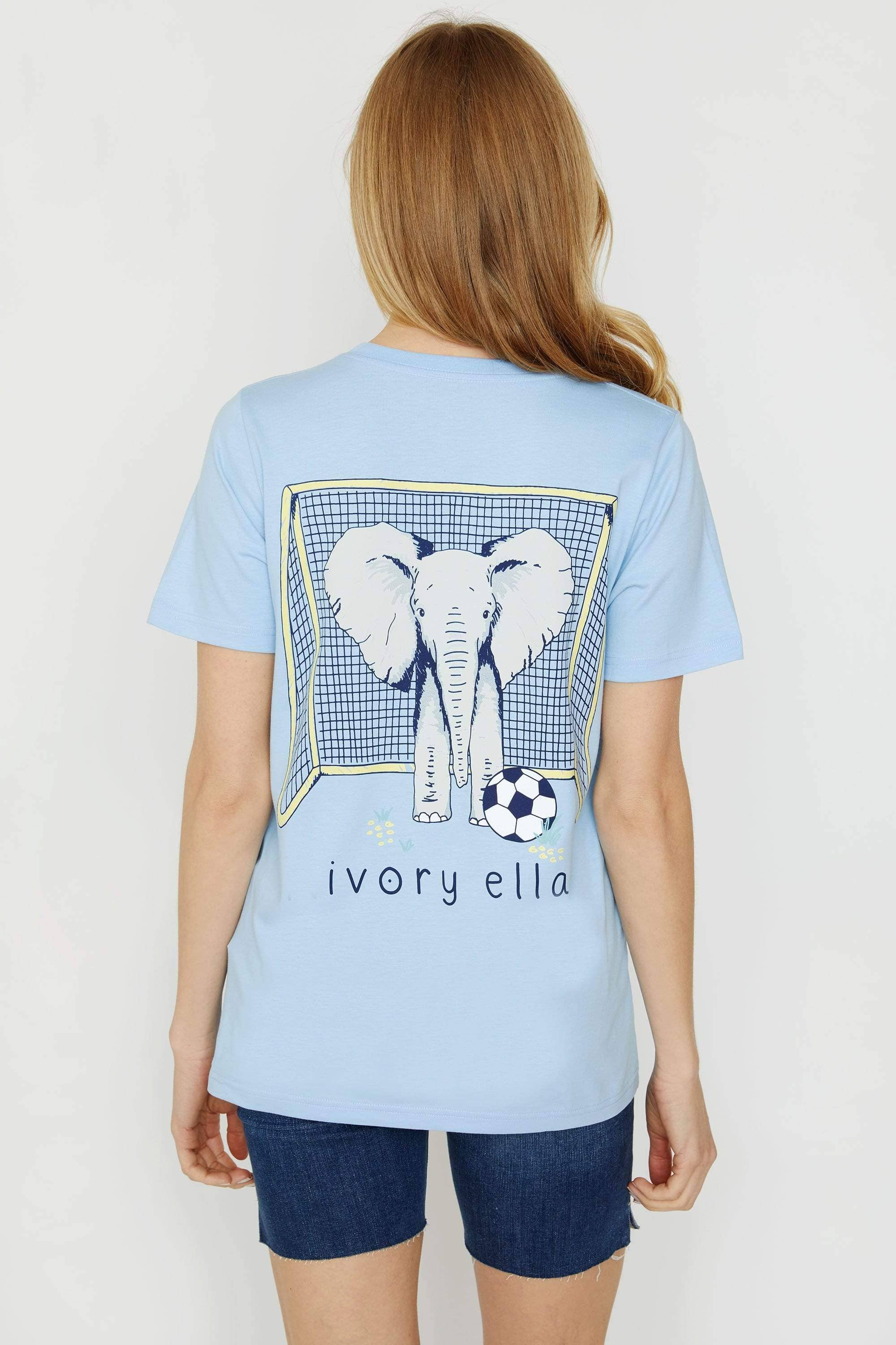 Ivory Ella Women's Short Sleeve Tees XXS Ella Fit Power Blue Soccer Tee
