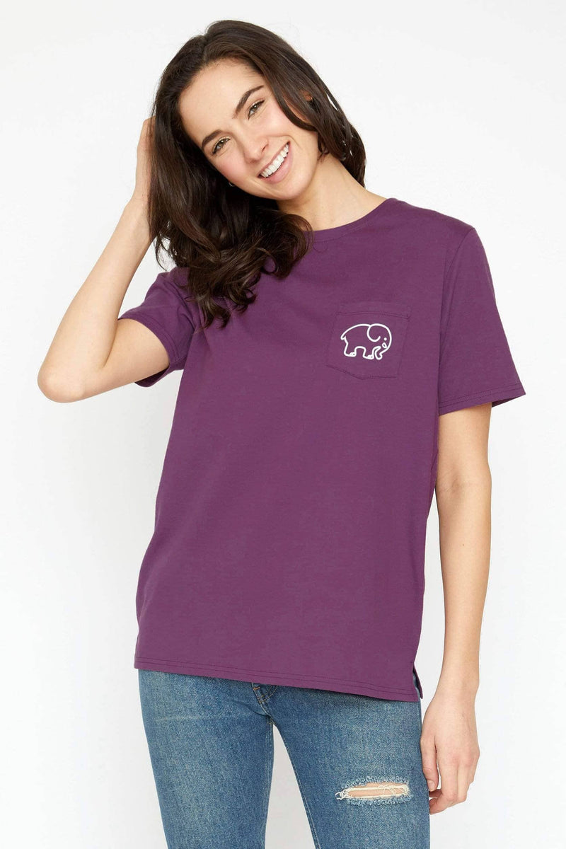 Ivory Ella Women's Short Sleeve Tees XS Ella Fit Royal Purple Dance Tee