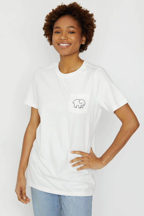 Ivory Ella Women's Short Sleeve Tees XXS Ella Fit Soft White Earth Day Tee