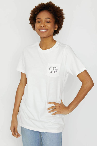 Ella Fit Soft White Earth Day Tee