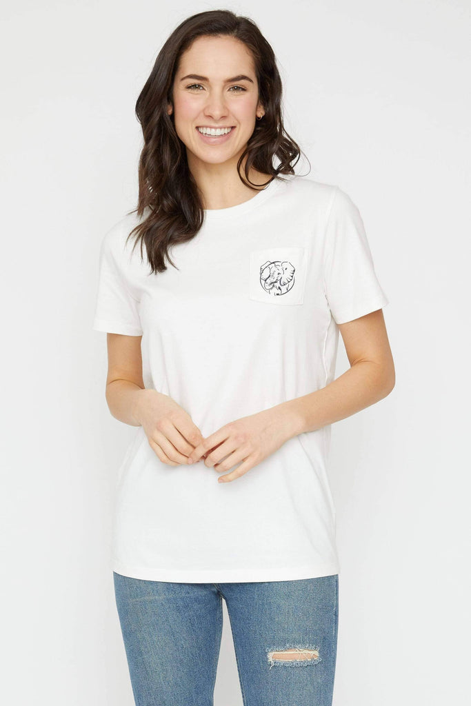 26768e89a94e ... Day Tee Ivory Ella Women s Short Sleeve Tees XXS Ella Fit Soft White  Mother s ...